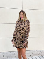 Tiger Ruffle Dress--Womens-Southern-Boutique-Shop