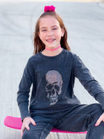 Skull Bling Sweatshirt--Womens-Southern-Boutique-Shop