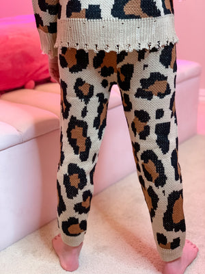 Knit Leopard Leggings--Womens-Southern-Boutique-Shop