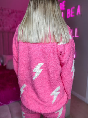 Pink Bolt Sweater--Womens-Southern-Boutique-Shop
