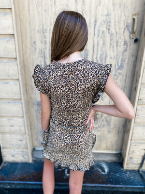 Leopard Ruffle Dress--Womens-Southern-Boutique-Shop