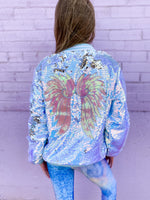 Angel Sequin Flip Bomber--Womens-Southern-Boutique-Shop