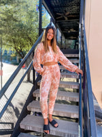 Rust Tie Dye Joggers--Womens-Southern-Boutique-Shop
