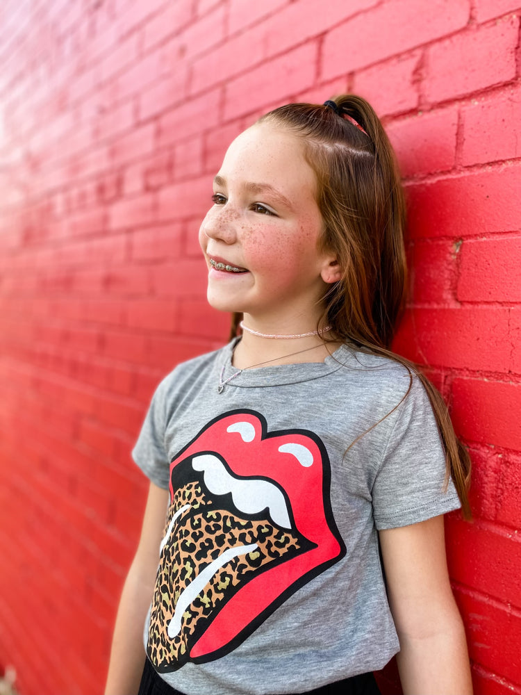 Leopard Tongue Tee--Womens-Southern-Boutique-Shop