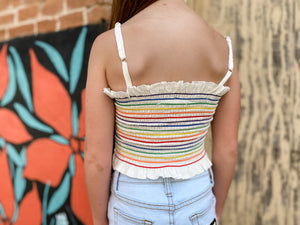 Rainbow Smocked Top--Womens-Southern-Boutique-Shop