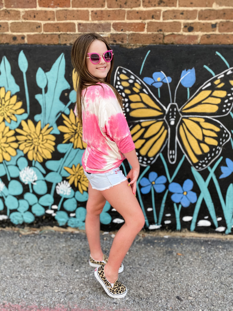 Berry Tie Dye Top--Womens-Southern-Boutique-Shop