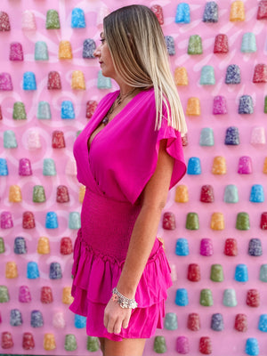 PSM Pink Dress--Womens-Southern-Boutique-Shop