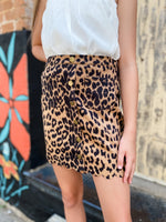Leopard High Waisted Skirt--Womens-Southern-Boutique-Shop