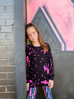 Neon Splatter Top--Womens-Southern-Boutique-Shop