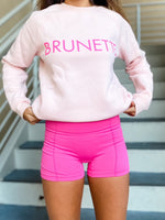 Pink Hair Color Sweatshirt--Womens-Southern-Boutique-Shop
