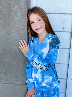 Star Tie Dye Hoodie--Womens-Southern-Boutique-Shop