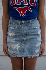 Star Distressed Skirt-Skirts-Womens-Southern-Boutique-Shop