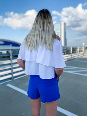 White Ruffle Top--Womens-Southern-Boutique-Shop