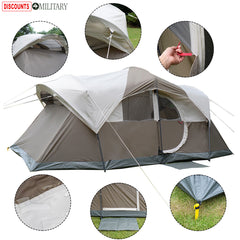 10 Person! Waterproof Camping Tent (Double Layered with Carry Bag)