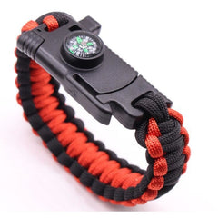 Ultimate Survival Paracord Bracelet black and red