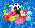 Pool & Beach Drink Holder Floaties (15 Pack)