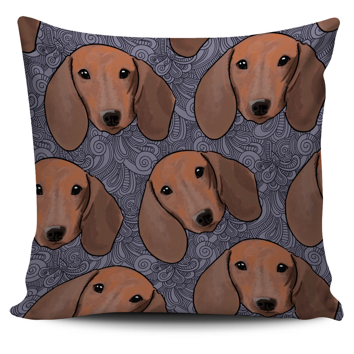 Cute Dachshund Head 3d Pattern Graphic Cute Dog Pillow Covers Store