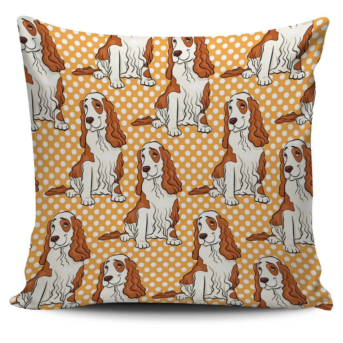 Smile Cocker Spaniel 3d Polka Dots Little Dog Pillow Covers Shop For