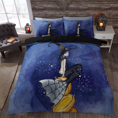 3d halloween mermaid witch graphic bedding set duvet cover shop for sale