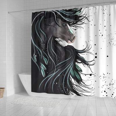 Majestic Native War Horse 3D Printed Shower Curtain Store For Sale
