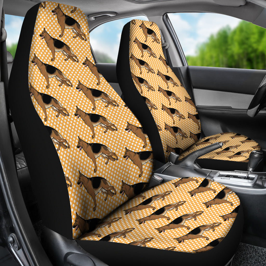 Cool German Shepherd Polka Dots 3D Printed Dog Car Seat Covers Store For Sale