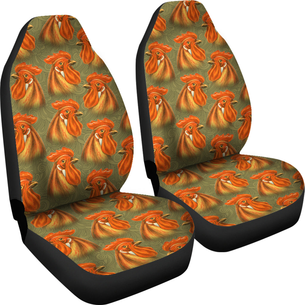 Novelty All Over Chicken 3D Graphic Car Seat Covers Shop For Sale