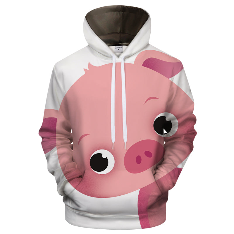 2aad72ae3eda Cute Chubby Pig 3D Pink Graphic T-Shirt Zipper Hoodie Tank Top Shop For Sale