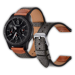 Pilot style Samsung galaxy watch leather strap - Ask Gab