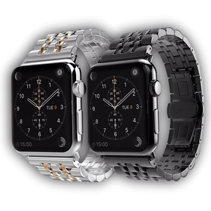 Jubilee stainless steel Apple watch bracelet - Ask Gab
