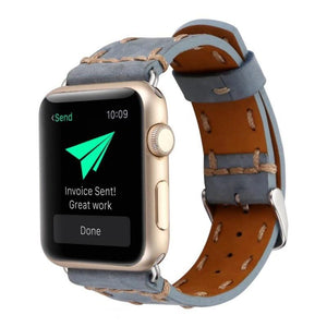 Handmade leather strap for Apple watch series - Ask Gab