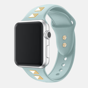 Riveted Silicone Sport Band For Apple Watch - Ask Gab