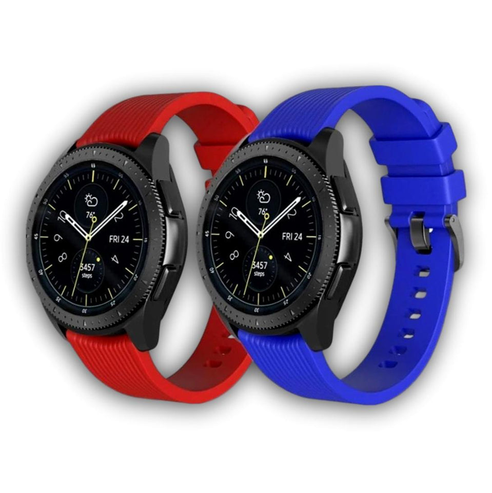 Solid color Samsung gear S3/S2 watch 46/42mm silicone band - Ask Gab