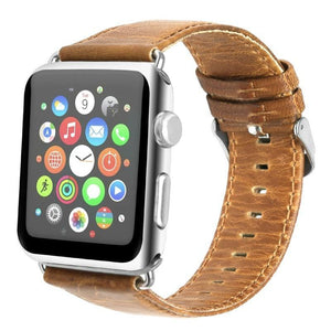 Crazy horse leather Apple watch strap - Ask Gab