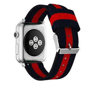Striped NATO style Apple watch nylon band - Ask Gab