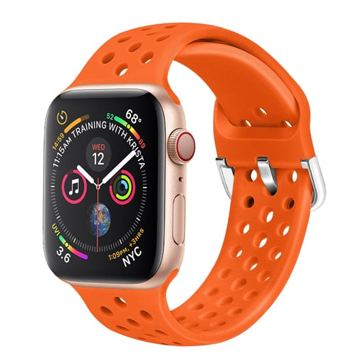 Solid color buckle clasp Apple watch sport band - Ask Gab