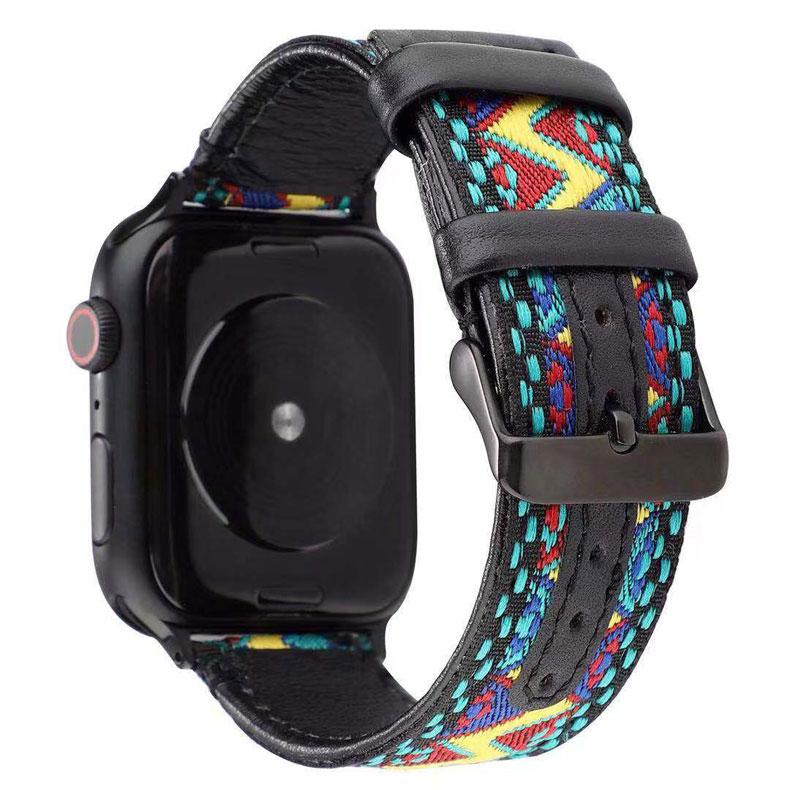 Embroidered Nylon Leather Band for Apple Watch Series - Ask Gab