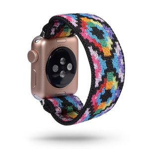 Elastic nylon Apple Watch loop band all series - Ask Gab