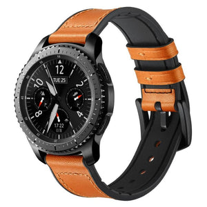 Leather with Silicone Band for Samsung Gear Frontier Classic Ask Gab