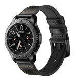 Leather with Silicone Band for Samsung Gear S2/S3 - Ask Gab
