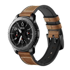 Leather and silicone Samsung watch 20/22mm strap - Ask Gab