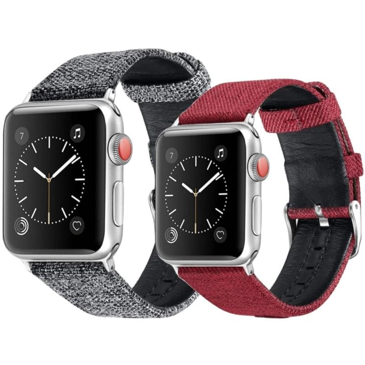 Canvas with leather Apple watch strap - Ask Gab