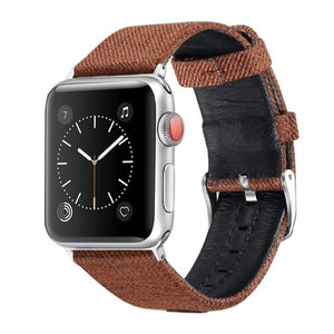 Canvas with Leather Strap for Apple Watch AskGab gray 38mm-40mm