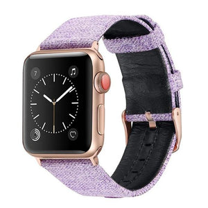 Canvas with Leather Strap for Apple Watch AskGab