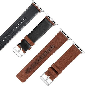 Canvas with Leather Strap for Apple Watch AskGab brown 38mm-40mm