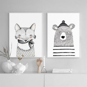Fox Rabbit Animal Art