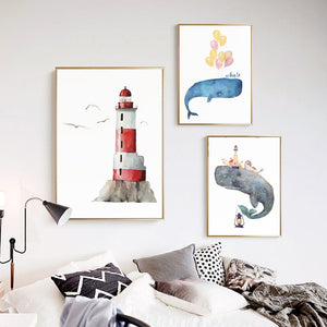 Nordic Whale Fisherman Lighthouse