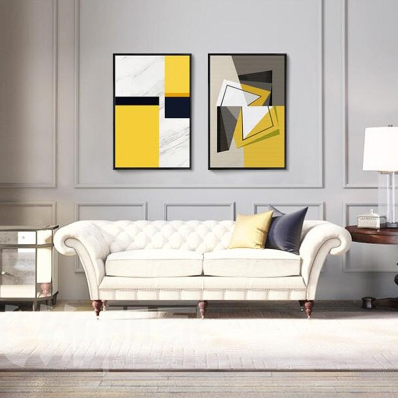 Yellow Block Canvas