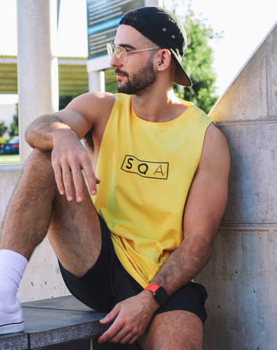 SLEEVELESS TEE – TAXI YELLOW