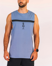 SLEEVELESS TEE – ELECTRIC BLUE