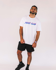 UNISEX OVERSIZED TEE - NEON LIGHTS WHITE